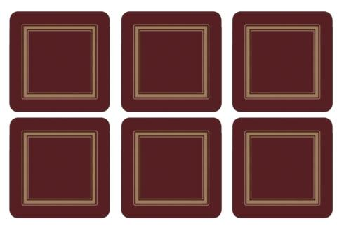 Classic Burgundy Coasters collection with 1 products