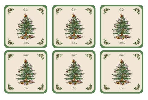 $15.00 Christmas Tree Coasters - Set of 6