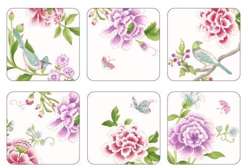 Porcelain Garden Coasters