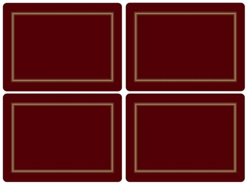 Classic Burgundy Placemats collection with 1 products