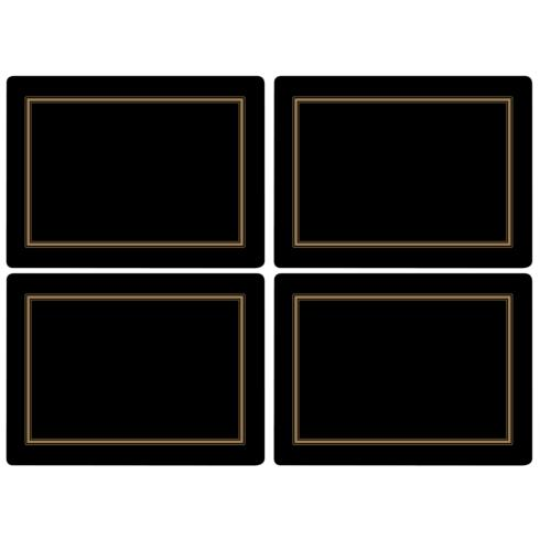 Classic Black Placemats