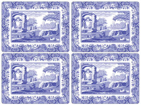 Pimpernel   Blue Italian Placemats $40.00