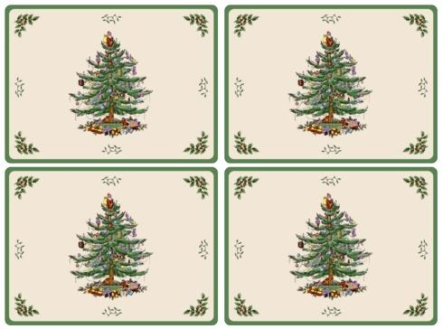 Spode Placemats, Coasters, & Trays Christmas Christmas Tree Placemats - Set of 4 $40.00