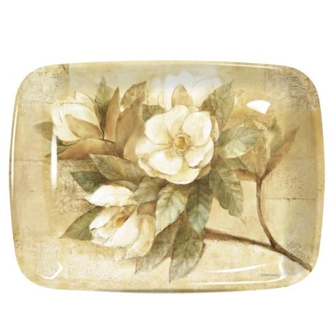 Sugar Magnolia Large Melamine Handled Tray