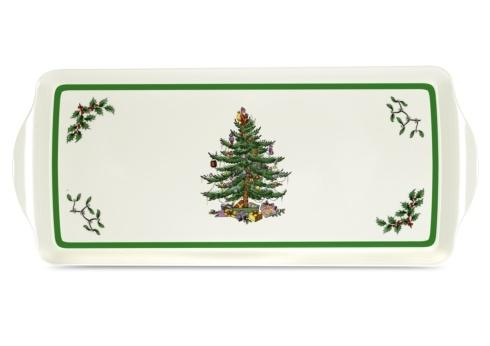 $10.00 Christmas Tree Large Handled Tray