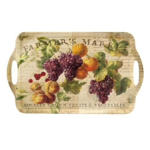Abundant Fall Large Melamine Handled Tray