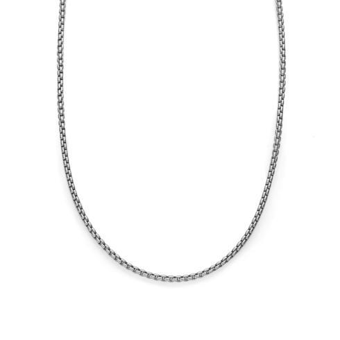 $150.00 Rhodium/Sterling 2.5mm Round Box Chain 22""