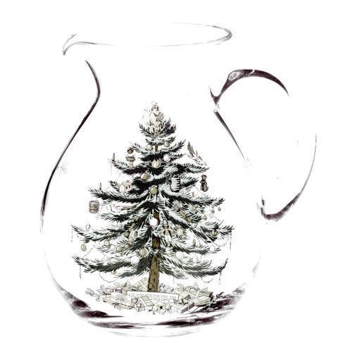Spode Christmas Tree  Glassware Glass Pitcher $39.99