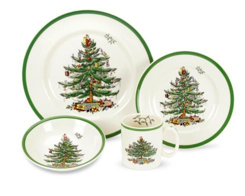 Spode Christmas Tree  Dinnerware/Entertaining 4 Piece Place Setting $68.50