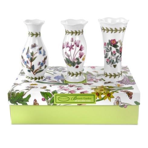 Portmeirion  Botanic Garden Set of 3 Mini Vases $32.00