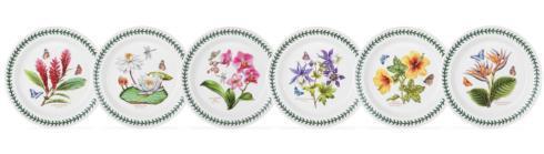 $162.00 Set of 6 Assorted Motif Salad Plates