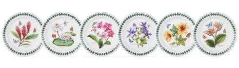 $172.50 Set of 6 Assorted Motif Bread and Butter Plates