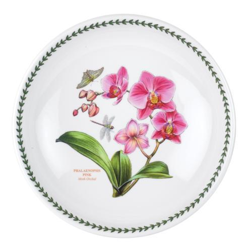 $90.00 Large Low Pasta Bowl with Moth Orchid Motif