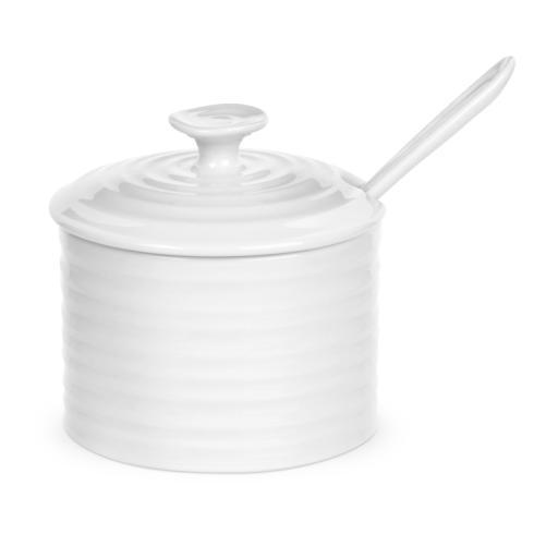Portmeirion  Sophie Conran White Conserve Pot with Spoon $19.99