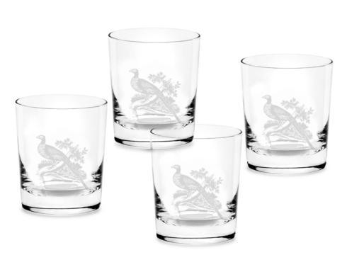 Spode  Pheasant Set of 4 Double Old Fashioned Glasses $40.00