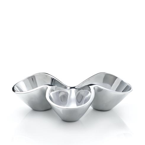Nambé  Bella Bella Triple Condiment Server $100.00