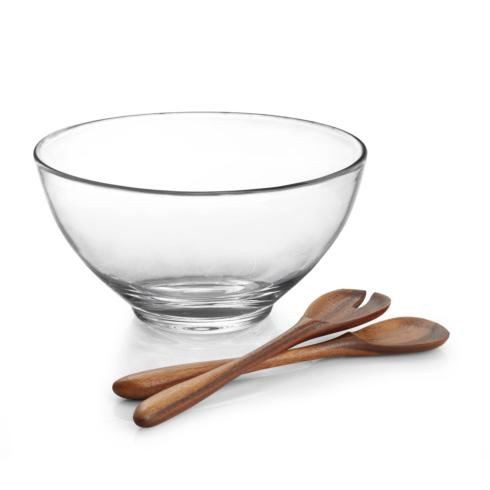 Nambé  Moderne Moderne Salad Bowl with Servers $125.00