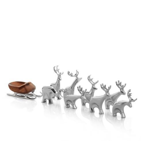 Nambé  Holiday Mini Reindeer 9 pc set  $200.00