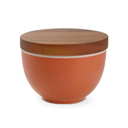 Nambé  Prism Prism Candle Bowl w/ Lid - Persimmon $30.00