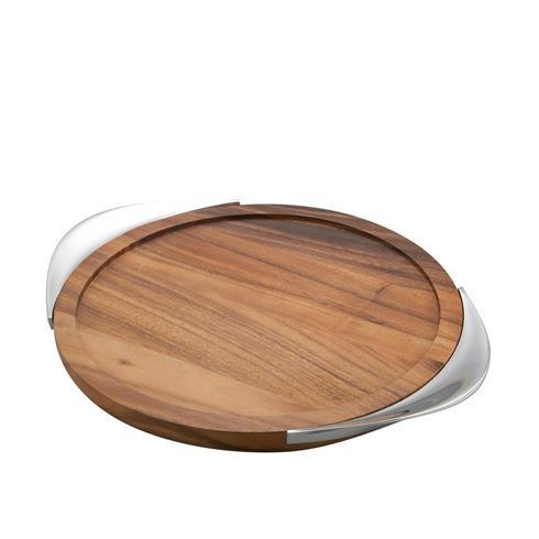 Nambé  Tilt Bar Tray - Wood/Metal $120.00