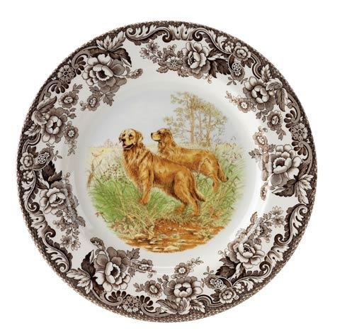 Spode Woodland Hunting Dogs Collection Golden Retriever Dinner Plate $37.00