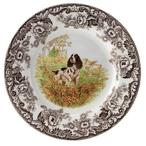 Spode Woodland Hunting Dogs Collection Spaniel Dinner Plate $37.00