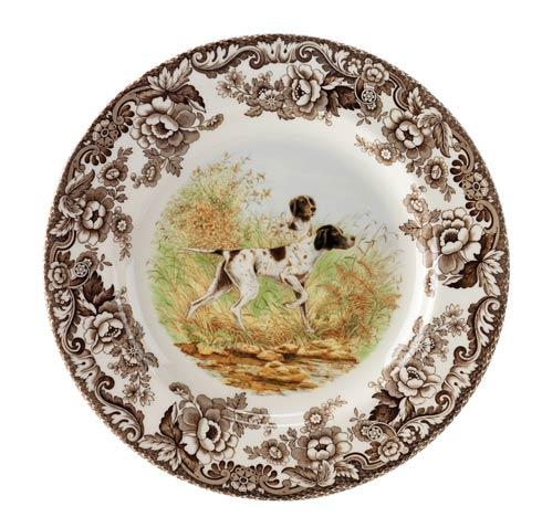 Spode Woodland Hunting Dogs Collection Pointer Dinner Plate $37.00