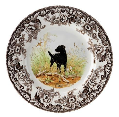 Spode Woodland Hunting Dogs Collection Black Labrador Retriever Salad Plate $32.50