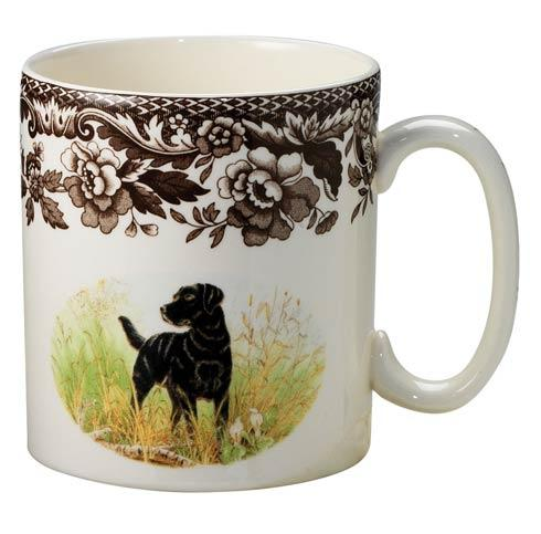 Spode Woodland Hunting Dogs Collection Black Labrador Retriever Mug $34.50
