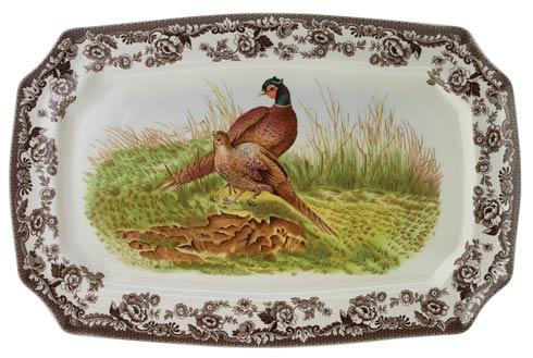 Spode Woodland Assorted Large Pheasant Rectangular Platter $165.00
