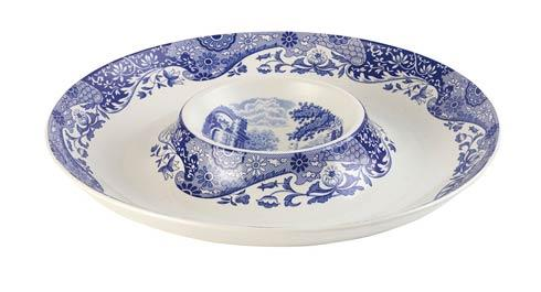 Spode  Blue Italian Chip and Dip $46.00