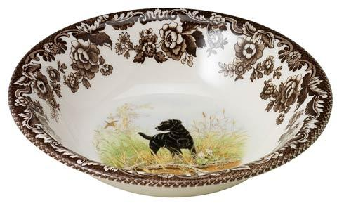 Spode Woodland Hunting Dogs Collection Black Labrador Retriever Ascot Cereal Bowl $36.40