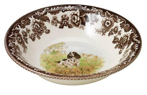 Spode Woodland Hunting Dogs Collection Spaniel Ascot Cereal Bowl $36.40