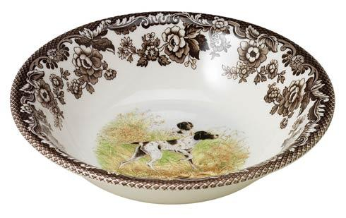 Spode Woodland Hunting Dogs Collection Pointer Ascot Cereal Bowl $36.40