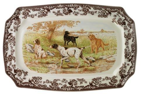 Spode Woodland Hunting Dogs Collection Large Rectangular Platter $165.00