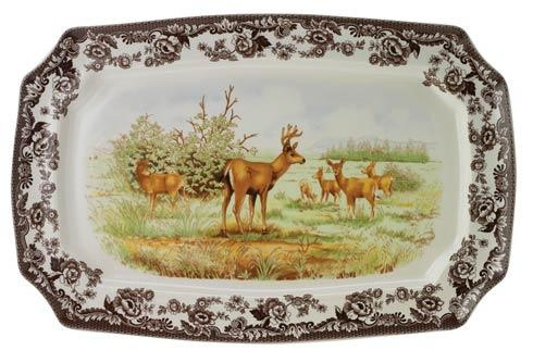 Spode Woodland American Wildlife Collection Mule Deer Large Rectangular Platter $165.00
