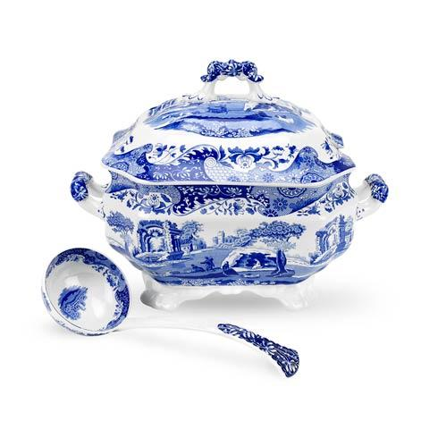 Spode  Blue Italian Soup Tureen and Ladle $479.50