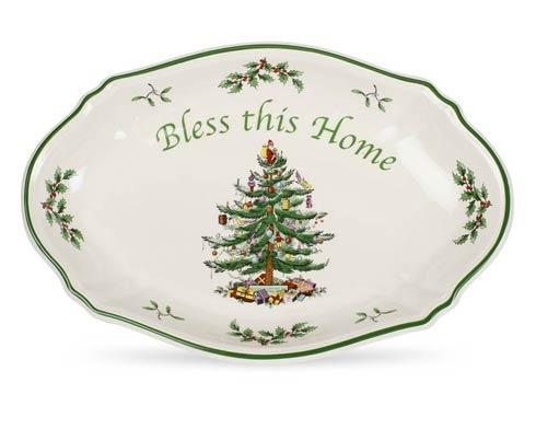 Spode  Christmas Tree Bless This Home Tray $26.50