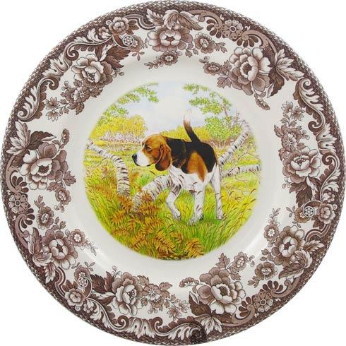 Spode Woodland Hunting Dogs Collection Beagle Dinner Plate $37.00