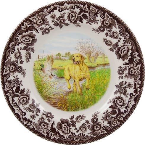 Spode Woodland Hunting Dogs Collection Yellow Labrador Retriever Salad Plate $32.50