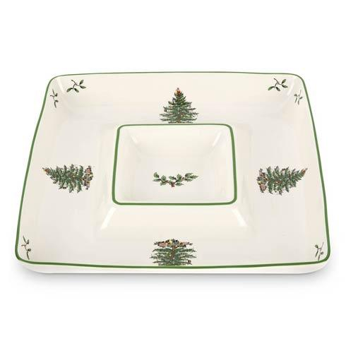 Spode Christmas Tree  Serveware/Giftware Square Chip & Dip $37.00