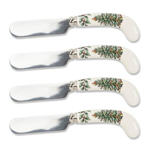 Spode Christmas Tree  Cutlery Set of 4  Spreaders $19.00