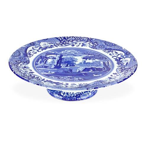 Spode  Blue Italian Footed Cake Plate $42.00