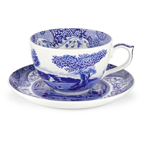 Spode  Blue Italian Jumbo Cup and Saucer $26.60