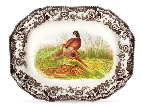 Spode Woodland Assorted Pheasant Octagonal Platter $156.00