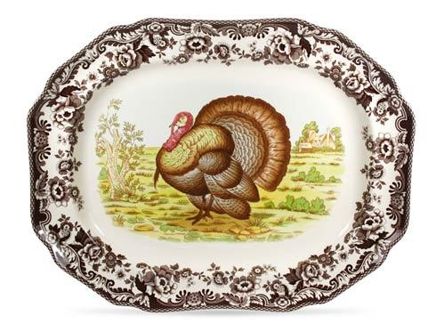 Spode Woodland Turkey Collection Octagonal Platter $156.00