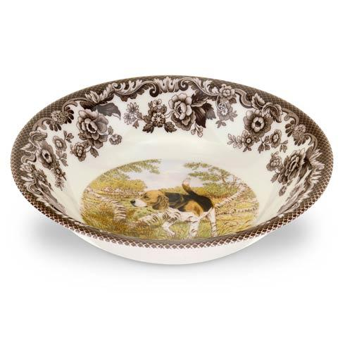 Spode Woodland Hunting Dogs Collection Beagle Ascot Cereal Bowl $36.40