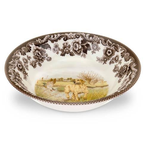 Spode Woodland Hunting Dogs Collection Yellow Labrador Retriever Ascot Cereal Bowl $36.40