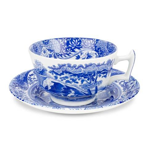 Spode  Blue Italian Set of 4 Teacups and Saucers $100.80