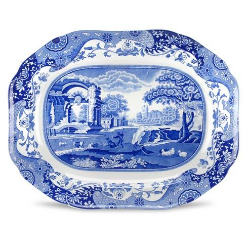Spode  Blue Italian Medium Oval Platter $110.00